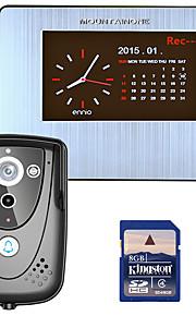 mountainone 7 dvr farve touch screen video dørtelefon med pir rekord intercom-system med IR kamera 8g SD-kort