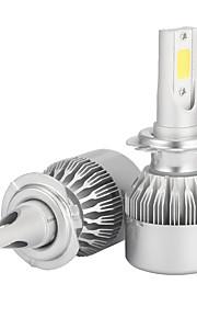 2pcs H7 7200LM Headlight Conversion Kits with Headlight Bulbs Bridgelux COB Chip