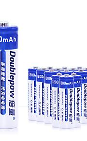 aa nikkel-cadmium genopladelige batteri 1.2V 1200mAh 20 pack