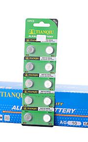 tmmq AG10 mønt&knapcelle alkaline / alkalisk batteri 1.55V 40 pack