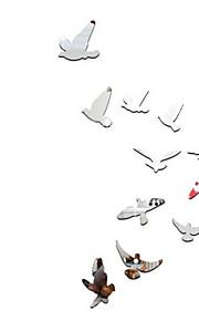 Животные Наклейки Зеркальные стикеры Декоративные наклейки на стены,Стекло материал Украшение дома Наклейка на стену