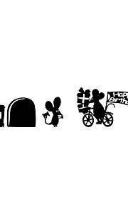מדבקות קיר מדבקות קיר סגנון קריקטורה העכבר יום הולדת pvc מדבקות קיר