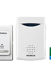 WEMEDA Wireless Doorbell DC Battery Remote Control Electronic Home Long Distance Old Pager 1 Receive 1 Button  Transmitter Battery