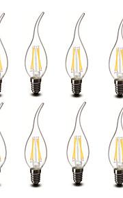 3.5 E14 Ampoules Bougies LED CA35 4 COB 400 lm Blanc Chaud Décorative AC 100-240 V 8 pièces