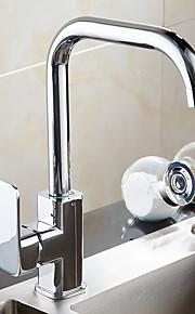 伝統風 バー/準備 標準スパウト デッキマウント 回転可 with  セラミックバルブ シングルハンドルつの穴 for  クロム , 水栓