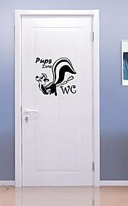 חיות אופנה מדבקות קיר מדבקות קיר מטוס מדבקות קיר דקורטיביות מדבקות לשירותים,ויניל חוֹמֶר קישוט הבית מדבקות קיר