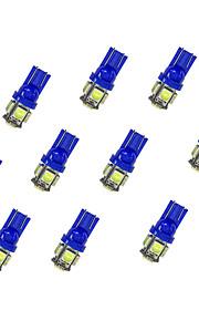10pcs t10 5 * 5050 smd led lampje bule light dc12v