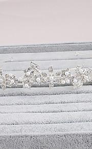 Rhinestone Crystal Imitation Pearl Headpiece-Wedding Tiaras 1 Piece