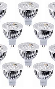 5.5W GU5.3(MR16) Spot LED MR16 4 LED Haute Puissance 600 lm Blanc Chaud Blanc Froid Décorative DC 12 V 10 pièces