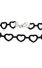 Damen Halsketten Herzform Samt Einzigartiges Design Liebe Schmuck Für Party Alltag Normal 1 Stück