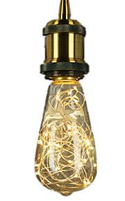 3W E27 Ampoules à Filament LED ST64 25 LED Intégrée 300 lm Blanc Chaud Décorative AC 100-240 V 1 pièce