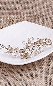 Pearl Rhinestone Headpiece-Wedding Headbands 1 Piece