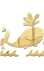 חיות אנימציה מראות מדבקות קיר מדבקות קיר תלת מימד מדבקות קיר מראות מדבקות קיר דקורטיביות,ויניל חוֹמֶר קישוט הבית מדבקות קיר