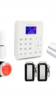 2.4g intelligente sicurezza domestica wifi gprs wifi gsm sistema di allarme android / ios app telecomando vocale lavoro prompt con pt wifi