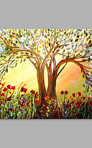 IARTS® Hand Painted Abstract Oil Painting The Magic Tree with Stretched Frame Painting For Home Decoration Ready To Hang