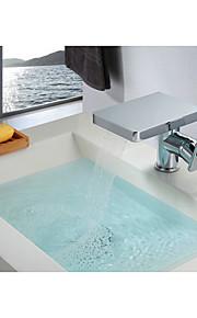 Moderne Mittellage Wasserfall with  Keramisches Ventil Einhand Ein Loch for  Chrom , Waschbecken Wasserhahn