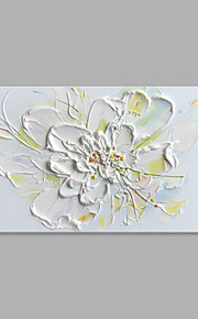 IARTS® Hand Painted Oil Painting Modern White Foral Abstrct Art Acrylic Canvas Wall Art For Home Decoration