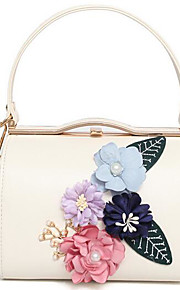 Women Shoulder Bag PU All Seasons Casual Outdoor Rectangle Clasp Lock Apricot Pale Pink Blue