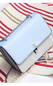 Women Shoulder Bag PU All Seasons Casual Outdoor Square Clasp Lock Blushing Pink Black Blue