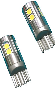 Volledige aluminium materiaal 5w lens ontwerp t10 can-bus led lamp wit kleur (2 stuks)