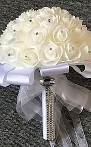 ウェディングブーケ ブーケ 結婚式 チュール 9.84inch(約25cm)