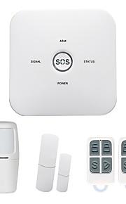 Système d'alarme domestique gsm home sms / application 433mhz système d'alarme domestique