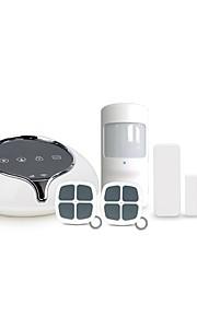 Wifi / gsm système intelligent d'alarme de sécurité pour la maison avec 100 zones de défense sans fil fonctionnent avec une caméra ip wifi