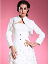 Longsleeves Chiffon Satin Bridal Evening Jacket/ Wedding Wrap Bolero Shrug