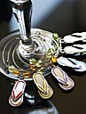 "Bottle Favor-6Piece/Set Charms Beach Theme Silver 1 3/4"" in diameter (4.5cm in diameter)"