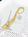 Golden Peacock Feather Bookmark Favor (Set of 5)