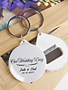 Personalized Bottle Opener / Key Ring - Our Wedding Day (set of 12)