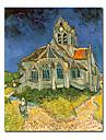 handmålade oljemålning av Vincent van Gogh med sträckt ram