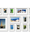 Contemporary Gallery White Collage Wall Picture Frames, Set of 13