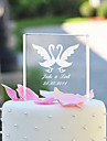 Cake Topper Personalized Classic Couple / Hearts Crystal Wedding / Bridal Shower / Anniversary Garden Theme / Classic Theme Gift Box