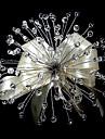 elegante de forme libre bouquet de mariee de mariee de cristal