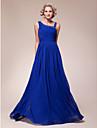 신부 드레스의 라인 플러스 크기를 lanting / 아담의 어머니 - 로얄 블루 바닥 길이 민소매 쉬폰