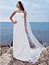 Lanting Bride® A-line Petite / Plus Sizes Wedding Dress - Classic & Timeless / Glamorous & Dramatic Watteau Train Sweetheart Chiffon with