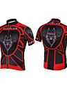Kooplus-Mens Short Sleeve Clcying Jersey (Red Wolf)