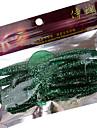 10 pcs Leurre souple / Kits de leurre / leurres de peche Leurre souple / Kits de leurreNoir / Blanc / Vert clair / Vert sapin / Or /