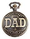 Men's DAD Logo Alloy Analog Quartz Pocket Watch (Bronze)