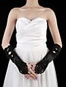 Elbow Length Fingerless Glove Satin Party/ Evening Gloves Spring / Summer / Fall Black Beading
