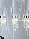 kunstneriske krystalvedhæng lamper med glasskærme G4 pære bund