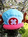 Chapeau/Casquette Inspire par One Piece Tony Tony Chopper Anime Accessoires de Cosplay Mancherons / Chapeau Bleu / Rose Velours Masculin