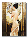 "Hand-painted People Oil Painting with Stretched Frame 24"" x 36"""