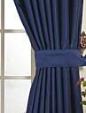 un panneau encre solide chambre classique bleu assombrissement rideau