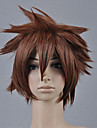Perruques de Cosplay Kingdom Hearts Sora Marron Court Anime/Jeux Video Perruques de Cosplay 30 CM Fibre resistante a la chaleur Masculin
