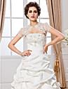 Wedding  Wraps Shrugs Short Sleeve Lace White Wedding / Party/Evening T-shirt Open Front