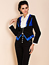 TS Sequin Embroidery Contrast Color Slim Blazer