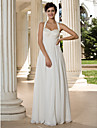 Lanting Bride A-line Petite / Plus Sizes Wedding Dress-Floor-length Halter Chiffon
