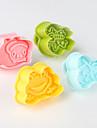 Fondant Cutter bricolage Decoration de gateaux 3D plongeur Outils Frog Bee Beetle papillon Theme (couleur aleatoire, 4-Pack)